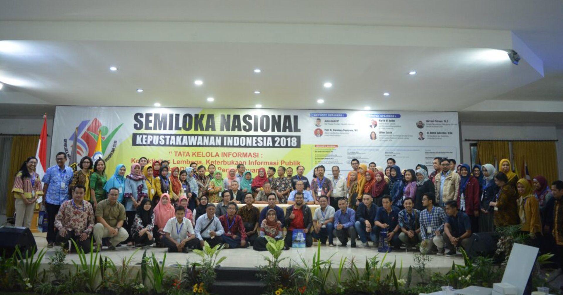 SEMILOKA NASIONAL KEPUSTAKAWANAN INDONESIA V & SNIPer 2019